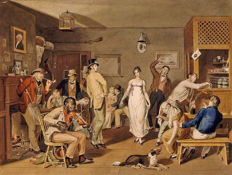 Barroom Dancing, 1820 - John Lewis Krimmel