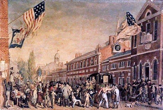 Philadelphia Election Day, 1815 - John Lewis Krimmel