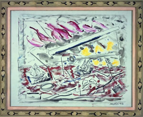 Movement in Red, 1946 - Джон Марин