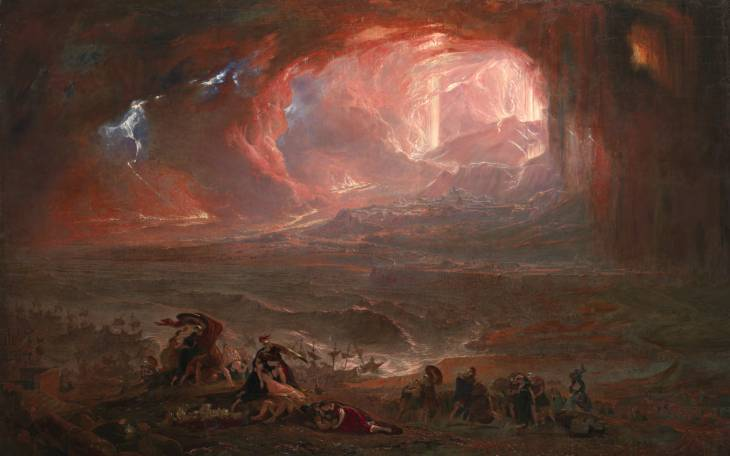 The Destruction of Pompei and Herculaneum - John Martin