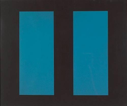 Untitled (Blue Vertical Lines), 1963 - John McLaughlin
