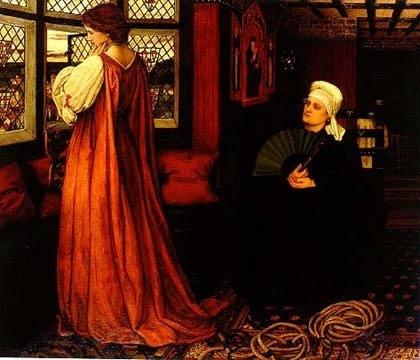 Juliet and her nurse, c.1860 - John Roddam Spencer Stanhope
