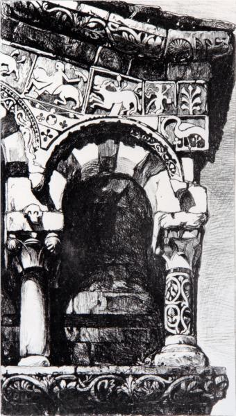 Arch from the Façade of the Church of San Michele, 1849 - John Ruskin