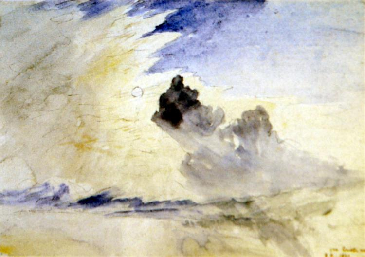 Cloud Study over Coniston Water, 1880 - John Ruskin