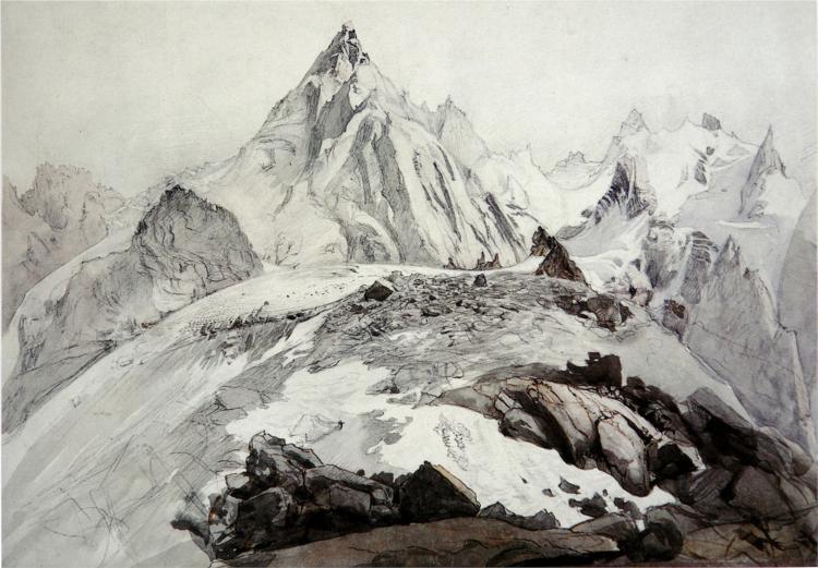 The Aiguille Blaitiere, 1856 - John Ruskin