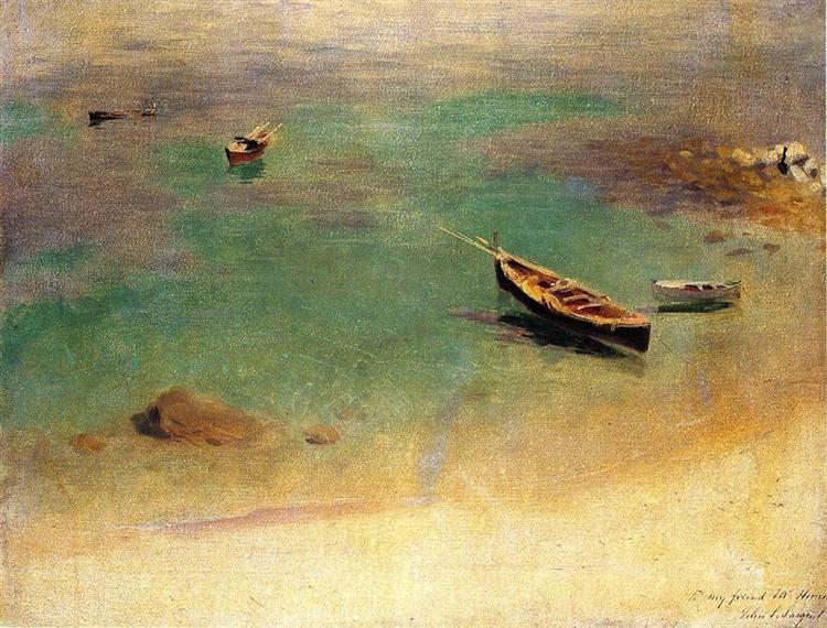 Boat in the Waters off Capri, c.1878 - John Singer Sargent