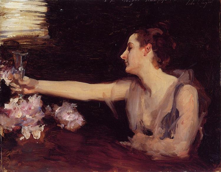 Madame Gautreau Drinking a Toast, 1882 - 1883 - Джон Сінгер Сарджент