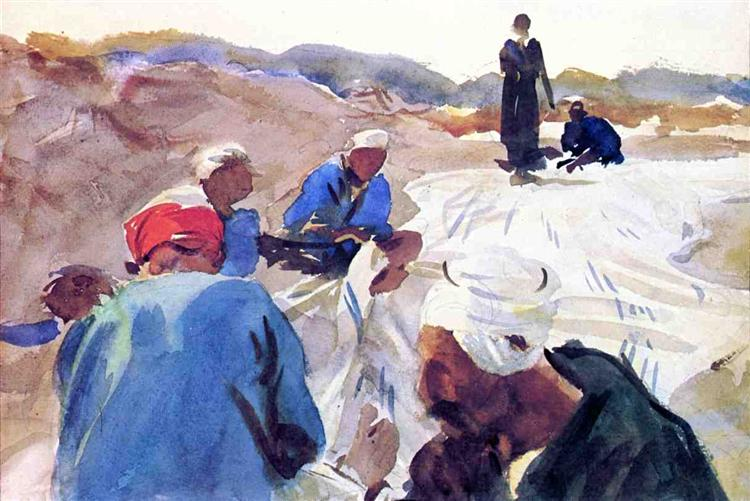 Mending a Sail, 1905 - John Singer Sargent
