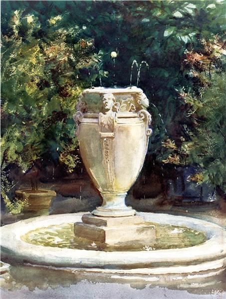 Vase Fountain, Pocantico, 1917 - John Singer Sargent