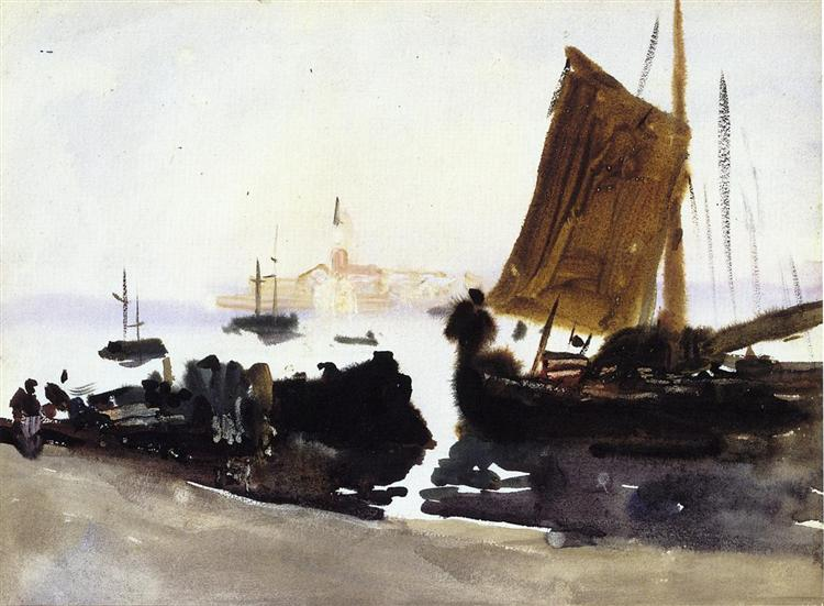 Venice, Sailing Boat, c.1903 - John Singer Sargent