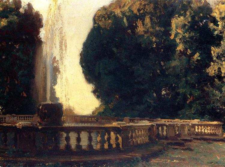 Villa Torlonia, Fountain, 1907 - John Singer Sargent