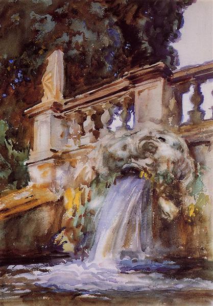 Villa Torlonia, Frascati, 1907 - John Singer Sargent