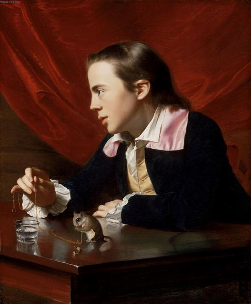 Boy with Squirrel (Henry Pelham) - John Singleton Copley