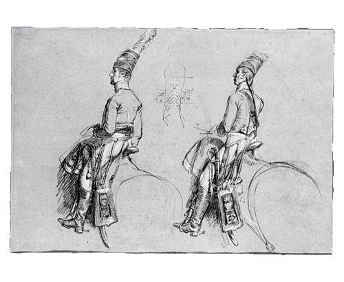 Two Equestrian Figures, 1803 - 1813 - John Singleton Copley
