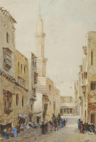 Street Scene, Cairo (also known as A North African Street), 1880 - John Varley II
