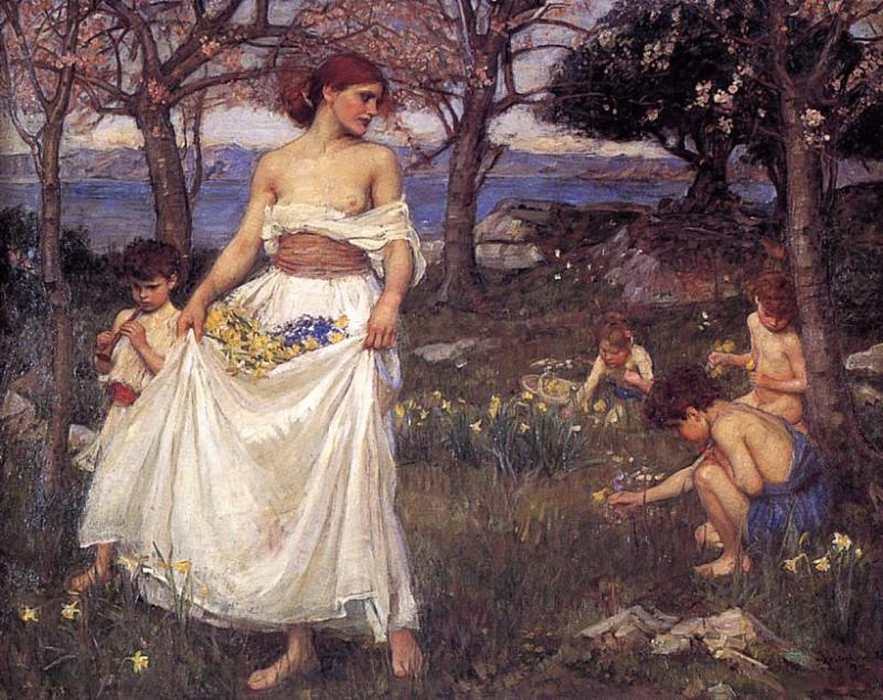 John William Waterhouse - Page 6 A-song-of-springtime-1913