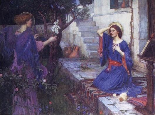 The Annunciation (Ecce Ancilla Domini), 1850 - John William Waterhouse