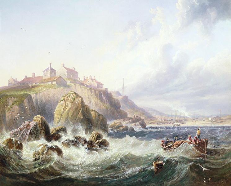 Fishing boats off Scotland by John Wilson Carmichael - John Wilson Carmichael
