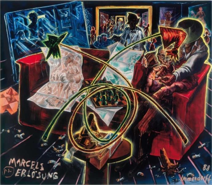 Marcel's Salvation, 1988 - Jörg Immendorff