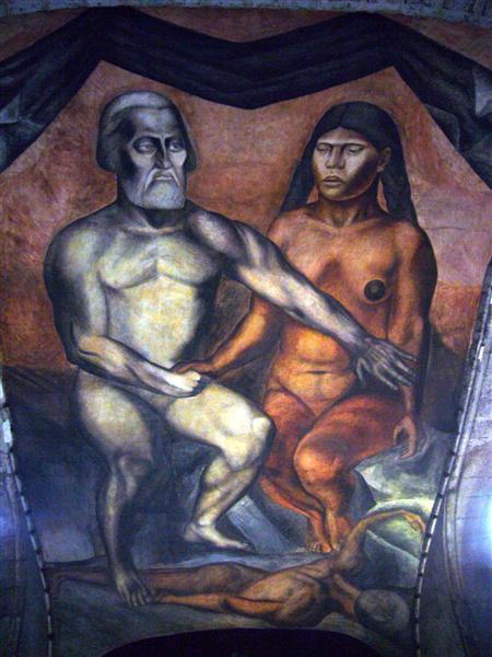 Cortés and La Malinche, 1926 - Jose Clemente Orozco