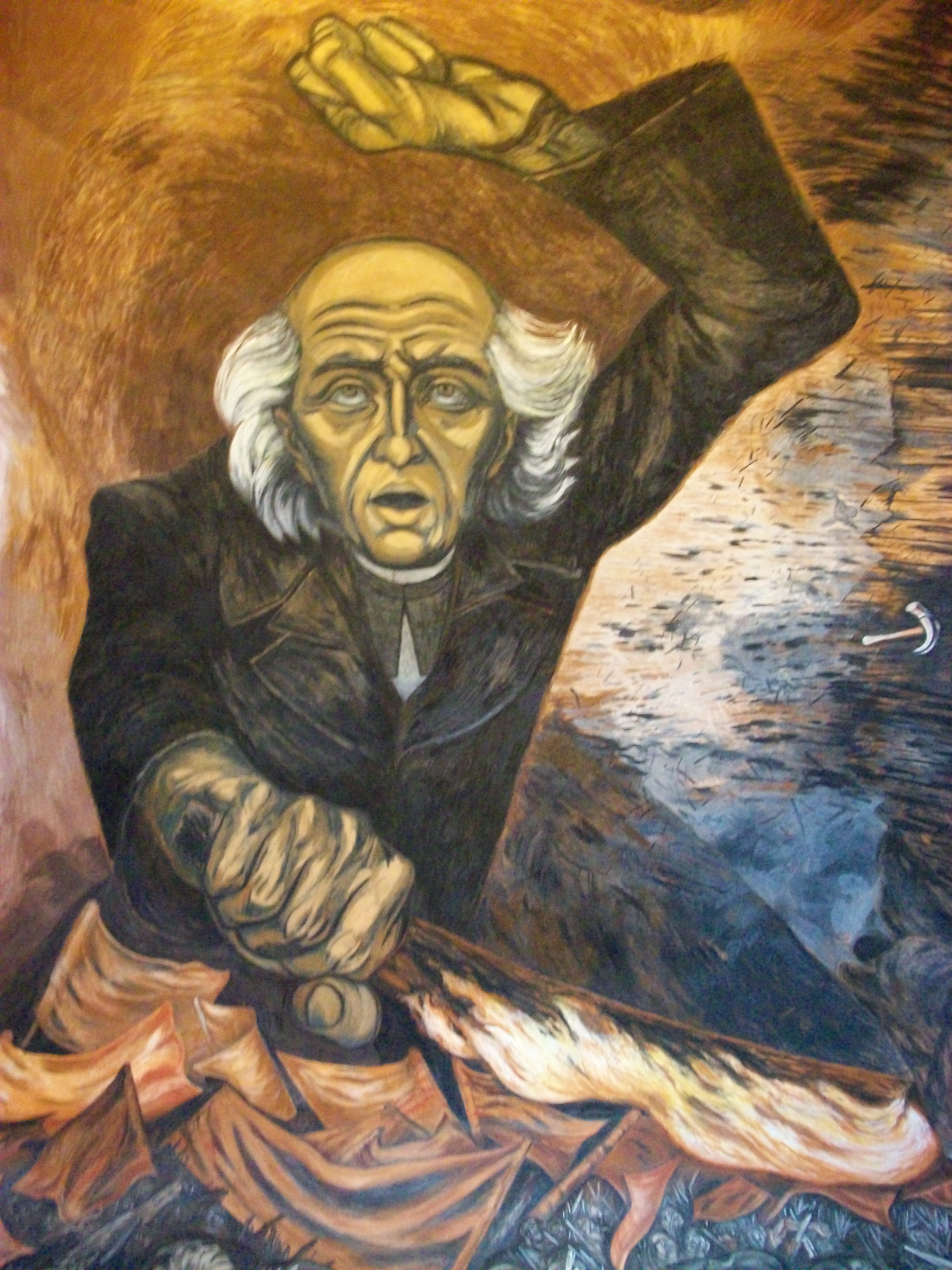 Father hidalgo 1949 jose clemente orozco for Arte mural mexicano
