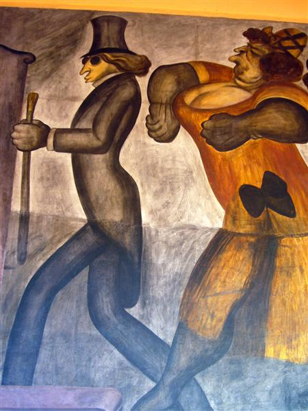 The Rich People (detail), 1924 - Jose Clemente Orozco