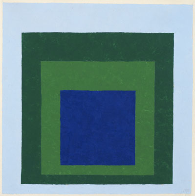 Homage to the Square: Blue & Green, 1950