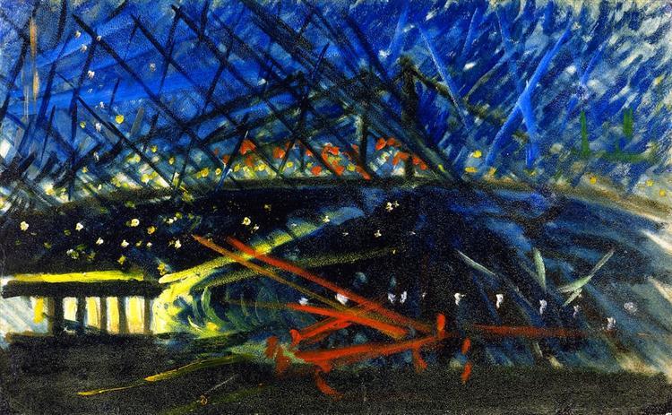 Night View of Brooklyn Bridge, c.1918 - Joseph Stella