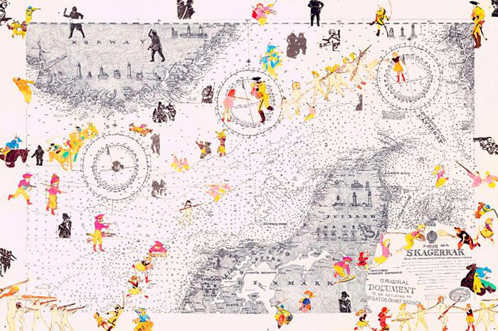 Boys' Art #19: Skagerrak, 2002 - Joyce Kozloff