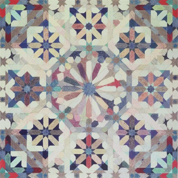 Sixteen-Point Star Pattern II, 1975 - Joyce Kozloff