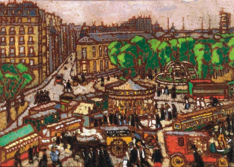 Busy City Scene, 1914 - Jozsef Rippl-Ronai