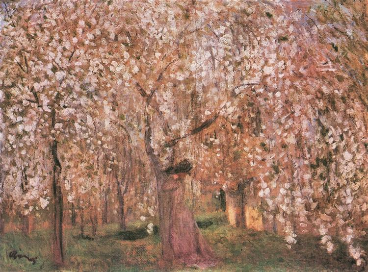 Cherry tree blossoms - Jozsef Rippl-Ronai