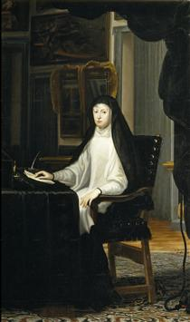 Portrait of Queen Mariana de Austria as a Widow - Juan Carreno de Miranda