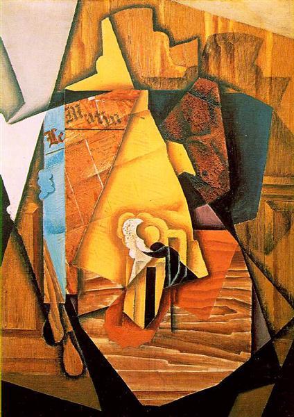 A man in a cafe, 1914 - Juan Gris