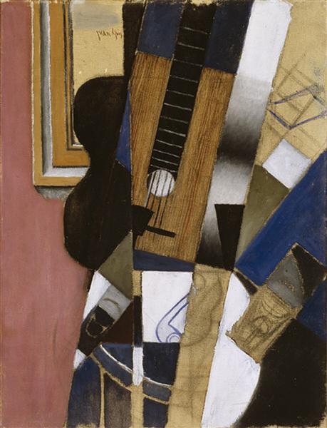 Guitar and Pipe, 1913 - Juan Gris