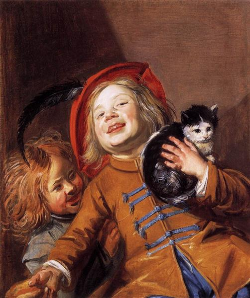 Laughing Children with a Cat, 1629 - Judith Leyster