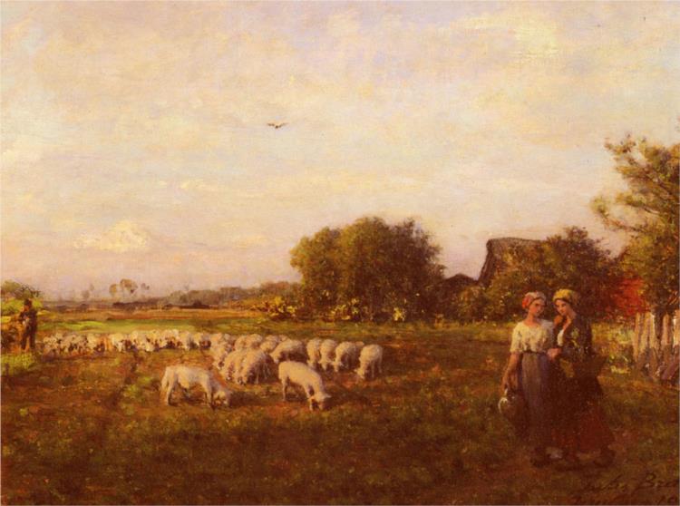 The Shepherd, 1905 - Жюль Бретон