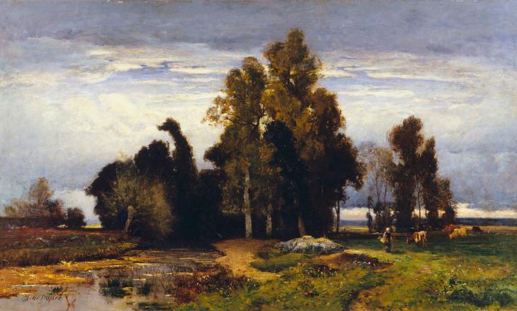 Barbizon Landscape - Jules Dupre