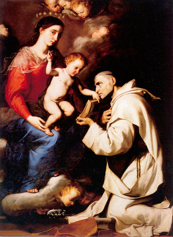 Madonna with the christ child and saint bruno