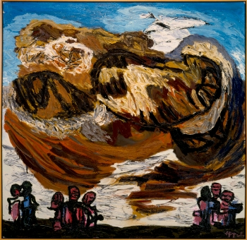 Cloud: Clouds and People, 1984 - Karel Appel