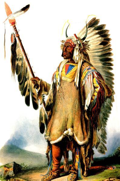 Mato Tope Mandan Chief, 1833 - Karl Bodmer