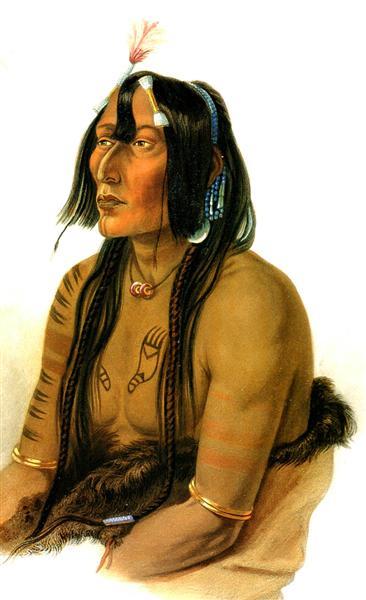 Psihdja Sahpa, Yanktonian Indian, 1833 - Karl Bodmer