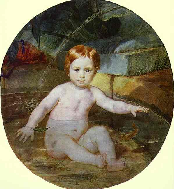 Child in a Swimming Pool (Portrait of Prince A. G. Gagarin in Childhood), 1829