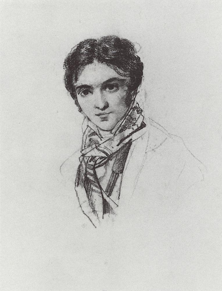 Portrait of F.A. Bruni, 1827-1828