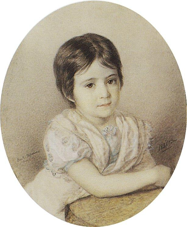 Portrait of Maria Kikina as a Child, 1821