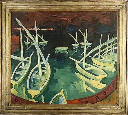 Pier at Night, 1930 - Karl Schmidt-Rottluff