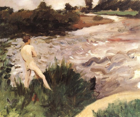 Gloomy Landscape with Bather, 1913 - Karoly Ferenczy