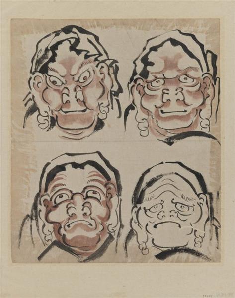 Чотири етюди облич - Кацусіка Хокусай