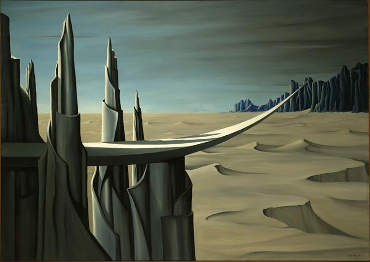 Danger, Construction Ahead, 1940 - Kay Sage