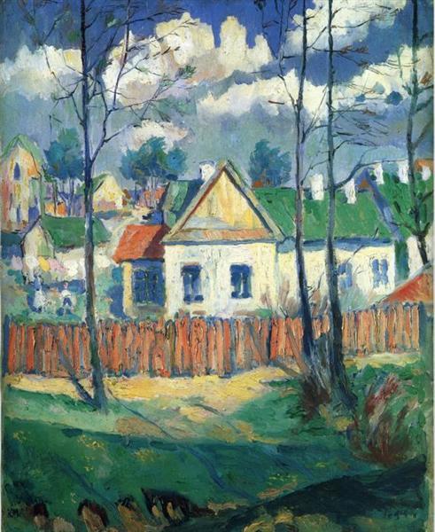 Обои импрессионизм пейзаж Клод Моне картина дерево на